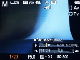 Sony Cyber-shot DSC-RX100 – LiveView mit manueller Belichtung [Foto: MediaNord]
