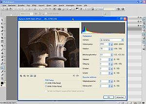 Eine Raw-Datei wird bearbeitet [Foto: MediaNord]