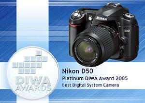 DIWA Platin Award Nikon D50 [Foto: DIWA]