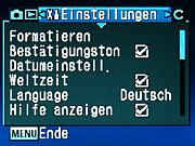 Samsung GX-1L Einstellungsmenü [Foto:MediaNord]