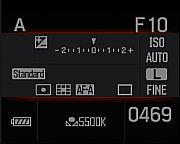 Sony Alpha 100 Statusübersicht  [Foto: MediaNord]