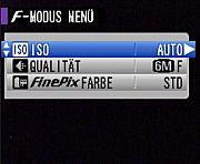 Fujifilm FinePix F-Modusmenü [Foto: MediaNord]