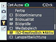 Nikon D80 ISO Einstellung  [Foto: MediaNord]
