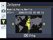 Nikon D80 Zeitzonen einstellung [Foto: MediaNord]