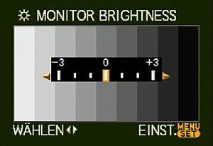 Leica Digilux 3 – Monitor Helligkeitsanpassung [Foto: MediaNord]