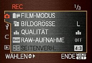 Leica Digilux 3 – Aufnahmeeinstellungen [Foto: MediaNord]