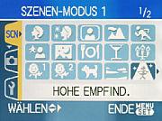 Panasonic Lumix DMC-TZ3 Szenen- Modus Menü [Foto: MediaNord]