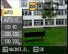 Ricoh Caplio GX100 Menü – ISO Einstellung [Foto: MediaNord]