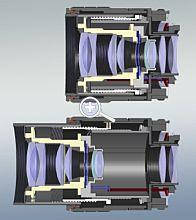 Bild 9: Längsschnitt durch ein typisches Makro-Objektiv [Foto: Wilfried Bittner]