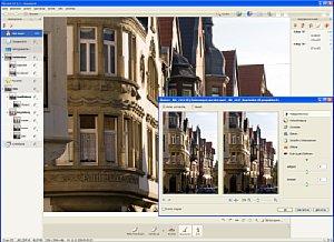 PicaJetFX - Hauptfenster mit Arbeitsfeld für Bildoptimierung [Foto: Dr. Bernd Schäbler]