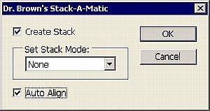 Per Dr. Brown's Stack-A-Matic legen Sie mehrere Dateien übereinander, wahlweise werden sie deckungsgleich ausgerichtet und per Stapelmodus verrechnet [Foto:Heico Neumeyer]
