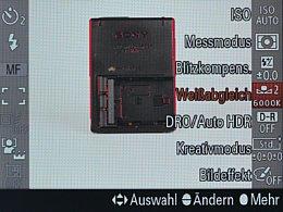 Sony Alpha SLT-A99V – Fn-Menü [Foto: MediaNord]
