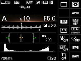 Sony Alpha 7 – Infobildschirm [Foto: Martin Vieten]