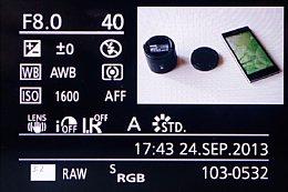 Panasonic Lumix DMC-GX7 – Bildwiedergabe mit Detailinfos [Foto: Martin Vieten]