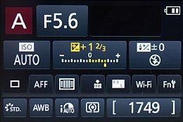 Panasonic Lumix DMC-G6 – Infobildschirm [Foto: Martin Vieten]