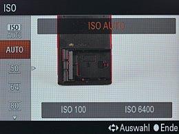 Sony Alpha SLT-A99V – ISO-Einstellung [Foto: MediaNord]