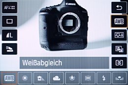 Canon EOS 650D – Schnellmenü [Foto: MediaNord]