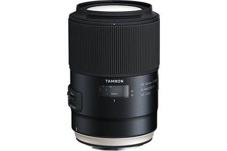 Bild Tamron legt das SP 90 mm F2.8 Di Macro VC USD (Model F017) neu auf und will den Bildstabilisator sowie die Autofokusgeschwindigkeit verbessert haben. [Foto: Tamron]
