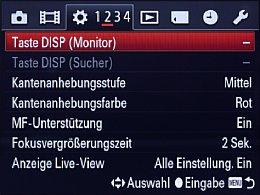 Sony DSC-RX1 – Einstellungsmenü [Foto: MediaNord]