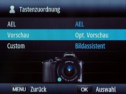 Samsung NX20 – Tastenkonfiguration [Foto: MediaNord]