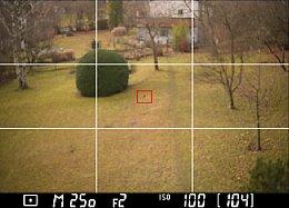 Nikon Df – Live-View mit Einblendung von Gitterlinien [Foto: Martin Vieten]