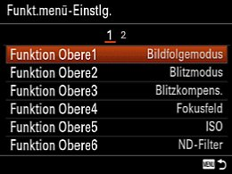 Sony Cyber-shot DSC-RX10 – Funktionsmenü-Einstellung [Foto: MediaNord]