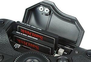 Canon EOS-1D X Speicherkartenfach [Foto: MediaNord]