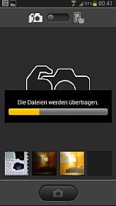 Es können auch Bilder automatisch übertragen werden, die mit dem Auslöser der Kamera aufgenommen wurden. [Foto: MediaNord]
