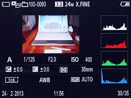Sony DSC-RX1 – Bildwiedergabe mit Histogramm und Detailinfos [Foto: MediaNord]