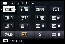 Fujifilm X-E2 – Schnellmenü [Foto: MediaNord]