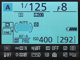 Nikon D7100 – Infoanzeige [Foto: MediaNord]