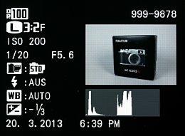 Fujifilm X100S – Bildwiedergabe mit Aufnahmeinfos und Histogramm [Foto: MediaNord]