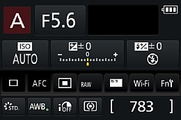 Panasonic Lumix DMC-GH4 – Statusanzeige [Foto: Martin Vieten]