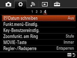 Sony Cyber-shot DSC-RX10 – Einstellungsmenü [Foto: MediaNord]