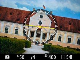 Nikon D4S – Horizontausrichtanzeige [Foto: Martin Vieten]