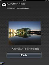 Empfangenes Bild im Fujifilm Photo Receiver auf dem Apple iPad [Foto: MediaNord]