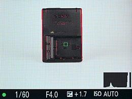 Sony Alpha SLT-A99V – LiveView mit Histogramm und Fokuspeaking [Foto: MediaNord]