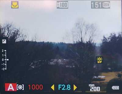 Fujifilm X20 – Live-View [Foto: Martin Vieten]