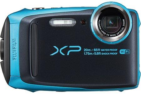 Bild Die Fujifilm FinePix XP120 ist für bis zu zwei Stunden lange Tauchgänge bis 20 Meter Tiefe wasserdicht und +übersteht Stürze aus bis zu 1,75 m Höhe. Aber auch Staub sowie Frost bis -10 °C können ihr nichts anhaben. [Foto: Fujifilm]