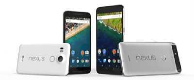 Google Nexus 5X und Nexus 6P im Größenvergleich. [Foto: Google]
