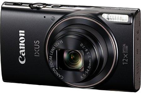 Bild Die Canon Ixus 285 HS zoomt optisch zwölffach von 25 bis 300 Millimeter und besitzt einen Bildstabilisator. Der 20-Megapixel-CMOS ermöglicht auch Full-HD-Videoaufnahmen. [Foto: Canon]