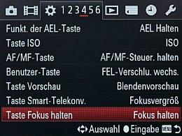Sony Alpha SLT-A99V – Einstellungsmenü [Foto: MediaNord]