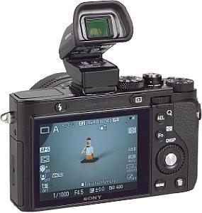 Sony DSC-RX1 mit FDA-EV1MK Viewfinder [Foto: MediaNord]