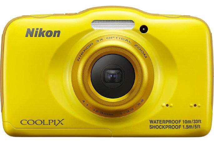 Bild Das Objektiv der Nikon Coolpix S32 ist innerhalb des Höckers an der Vorderseite sicher verpackt und fährt dort innen hin und her. [Foto: Nikon]