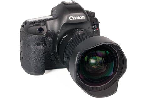 Bild An der Canon EOS 5DS R macht das Sigma 20 mm 1,4 DG HSM Art einen gut ausbalancierten Eindruck. [Foto: MediaNord]