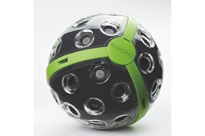 Bild Die Panono-Ball-Kamera besitzt 36 Kameramodule, deren Bilder zu einem vollsphärischen 108-Megapixel-Panorama zusammengesetzt werden. [Foto: Panono]