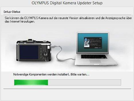 Bild Der Olympus Digital Camera Updater ist schnell installiert. [Foto: MediaNord]