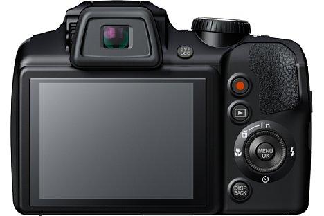 Bild Der rückwärtige 7,6-cm-Bildschirm der Fujifilm FinePix S9400W ist fest verbaut und bringt es auch 460.000 Bildpunkte Auflösung. [Foto: Fujifilm]