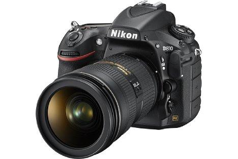 Bild Die Nikon D810 ist das Nachfolgemodell der D800 und D800E gleichermaßen. Äußerlich kaum zu unterscheiden, wurden viele technische Details verbessert. [Foto: Nikon]