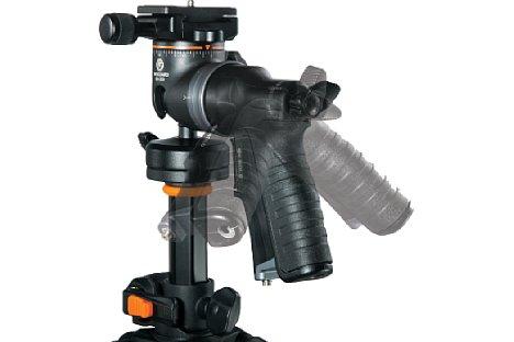 """Bild Die Drehbarkeit des GH-300T """"Pistolen""""-Griffes läßt bequemes Arbeiten in jeder Position zu. [Foto: Vanguard]"""